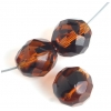 Fire Polished 12mm Brown Tortoise